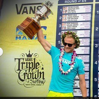 Adam Melling takes first at Sunset Beach.