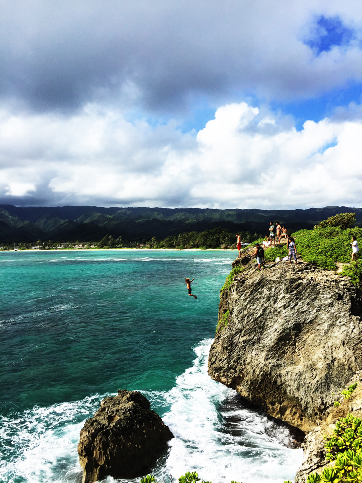 Cliff Jumping North Shore