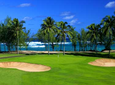 The 11th hole at Turtle Bay Golf Course