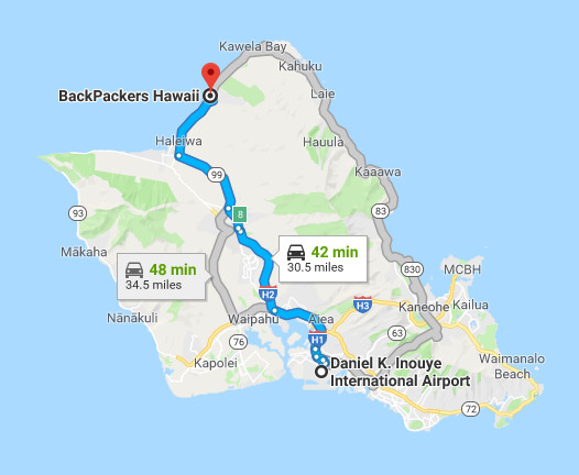 Directions To Backpackers Hawaii Vacation Inn & Plantation Village